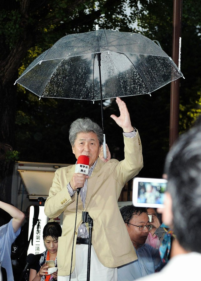 鳥越俊太郎氏、都知事選の街宣そっちのけ 国会前で「非核」訴える