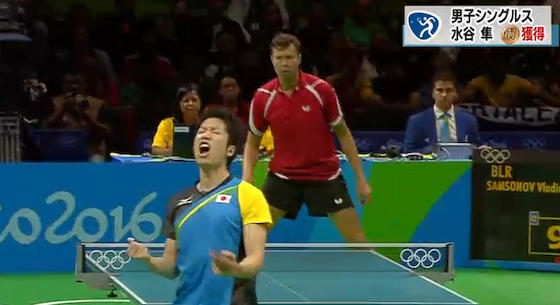 水谷、銅メダルキタ━━━━(゚∀゚)━━━━!! 卓球個人で日本初のメダル
