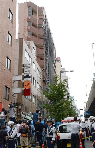 工事現場から鉄パイプが落下し直撃 通行人の77歳男性死亡 東京・六本木