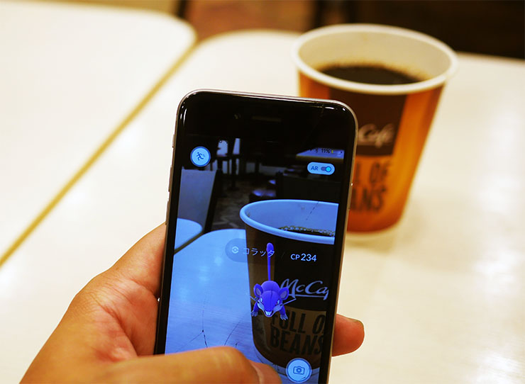 マクドナルドでコーヒー1杯で長居して「ポケモンGO」をする客が増加