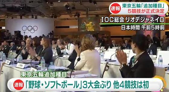 2020年東京五輪、追加種目の5競技18種目が正式決定 … 「野球・ソフトボール」「空手」「スケートボード」「スポーツクライミング」「サーフィン」