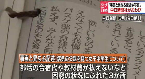 中日新聞社 貧困をテーマにした連載の記事の中に事実と異なる記述や写真でおわび