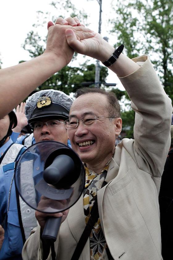 保守派デモへの言論弾圧で活躍した民進党有田議員