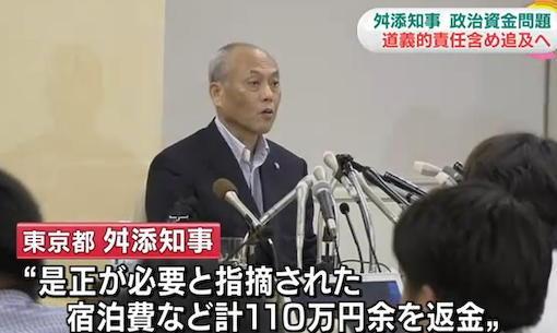 舛添都知事会見アンケート「納得しない」98・6%