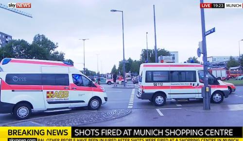ミュンヘン銃乱射で死傷者複数、犯人まだ拘束されず