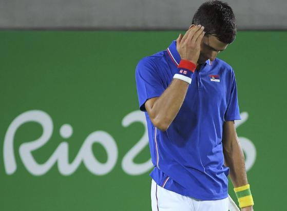リオ五輪、ジョコビッチが初戦敗退