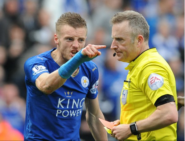 Leicester City 2 - 2 West Ham UnitedPos Vardy sending off