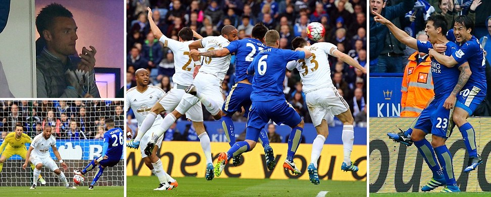 Leicester City 4-0 Swansea Leonardo Ulloas double inspires Premier League leaders to emphatic win as they close in on title