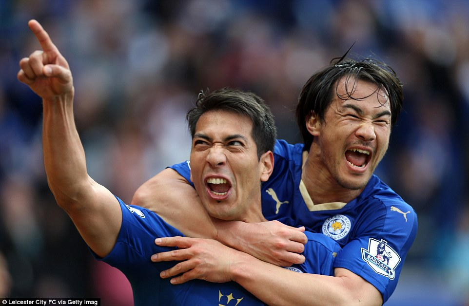 With half an hour played, Leicester doubled their advantage through Vardys replacement Ulloa