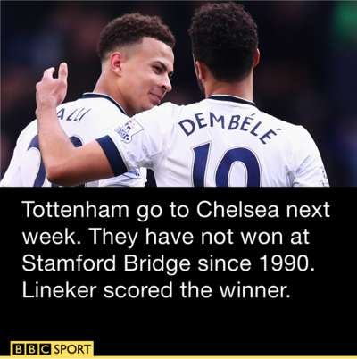 Tottenham - Chelsea is the Monday night game next weekend 2016