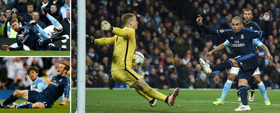Manchester City 0-0 Real Madrid Joe Hart denies Pepe with super late save as Champions League semi-final first leg ends goalless