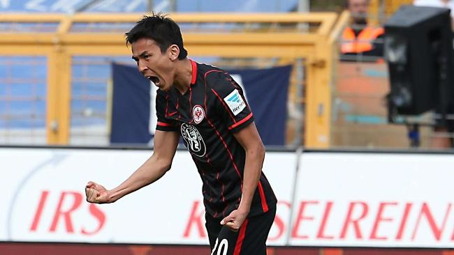 Makoto Hasebe jubelt nach seinem Treffer in der 56Minute