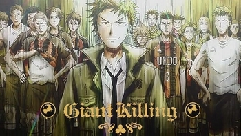 Giant Killing follows the ups and downs of the fictional soccer team ETU