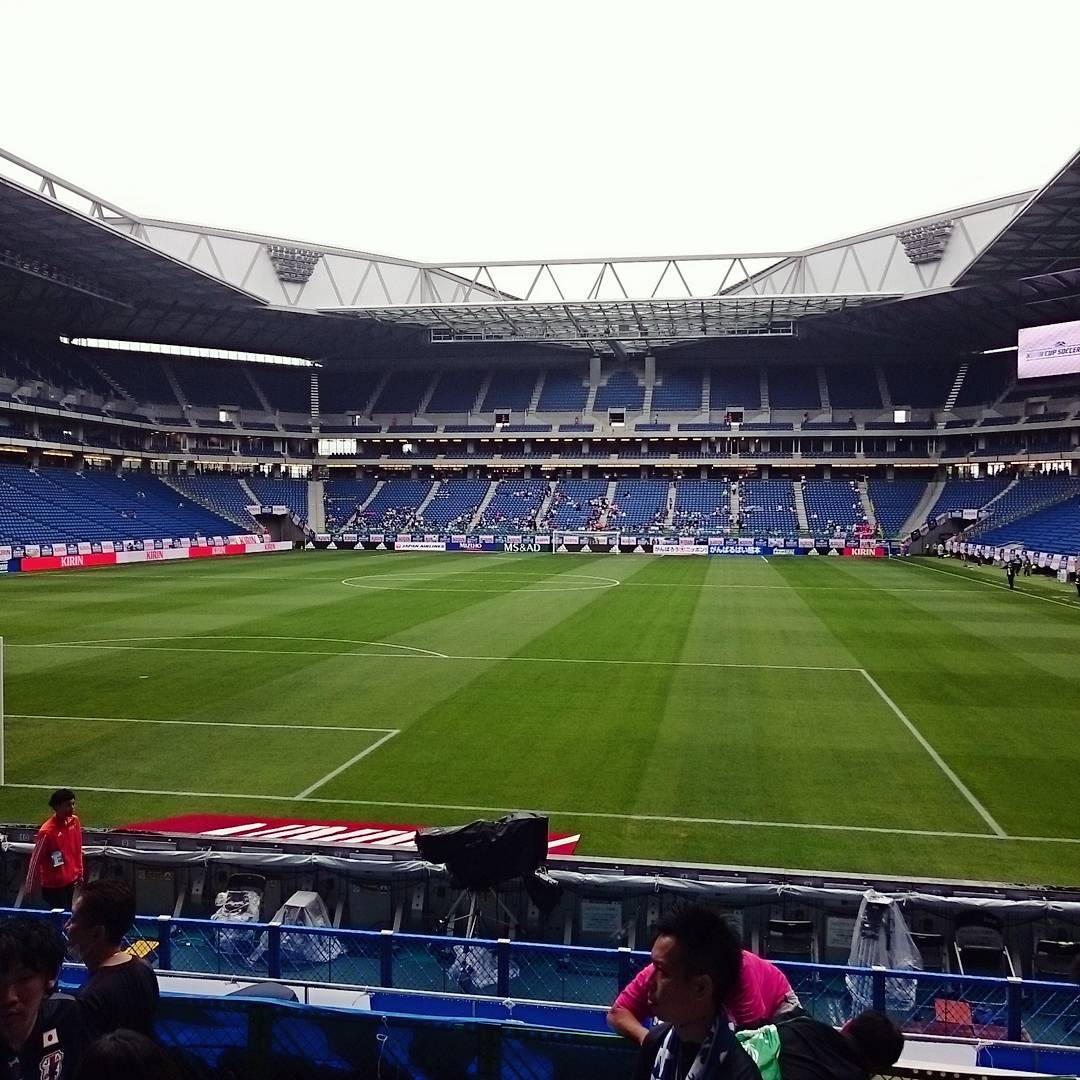 Beautiful stadium in Osaka suita