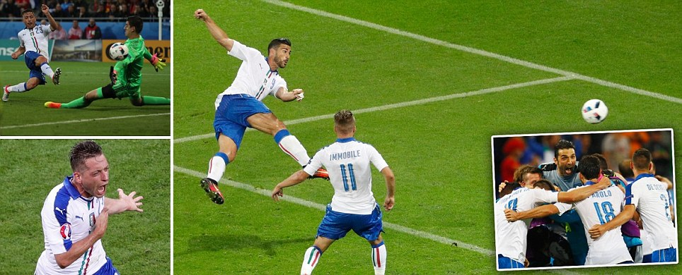 Italy stun Belgium thanks to superb defensive performance and strikes in each half from Sunderland flop Giaccherini and Pelle