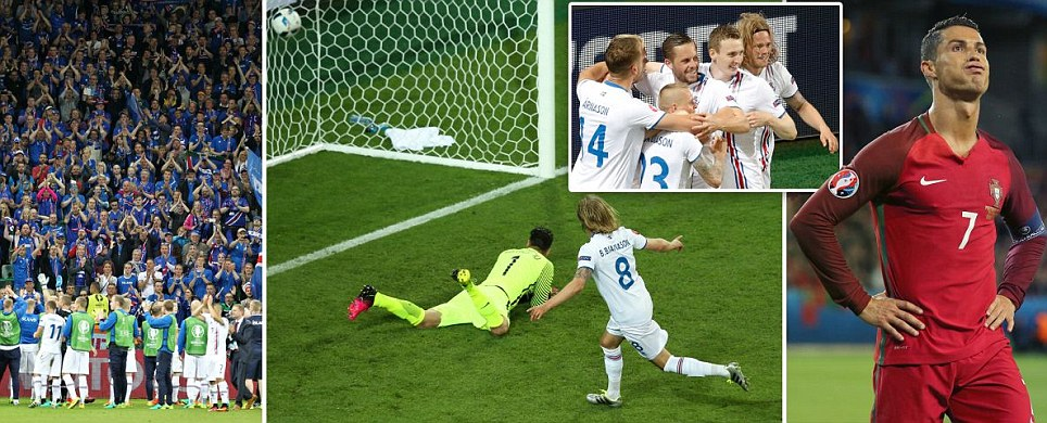 Ice kings put Ronaldo on the rack Portugal held by Euro debutants as Bjarnason snatches a point after Nani had opened scoring