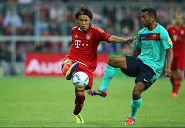 Bayern Munichs Takashi Usami I wasnt nervous about facing Barcelona