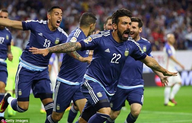 Lavezzi gave Argentina the lead in Tuesdays semi-final against Copa America hosts USA