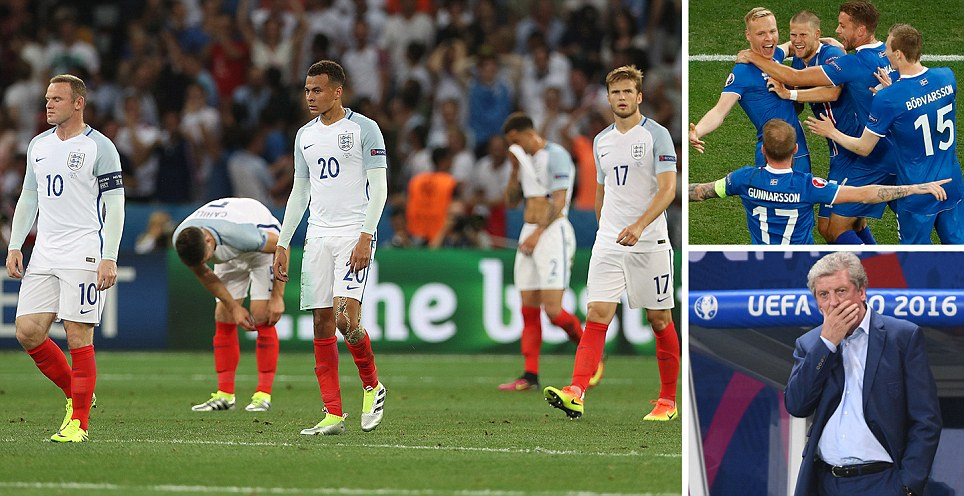 THE ULTIMATE HUMILIATION England dumped out of Euro 2016 by minnows Iceland in one of the biggest tournament shocks ever