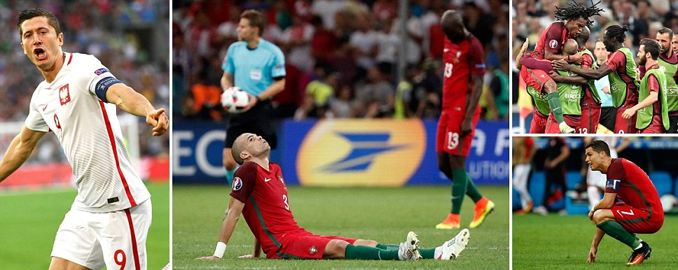 Portugals Euro pedigree goes on Ronaldo and Co beat Poland on pens as Queresma punishes Blaszczykowskis miss from 12 yards