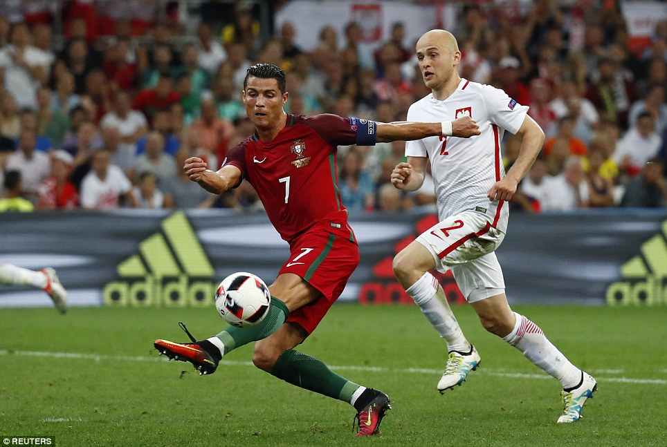 Ronaldo missed a glorious chance to win it for Portugal when he kicked at fresh air with five minutes remaining after a ball over the top