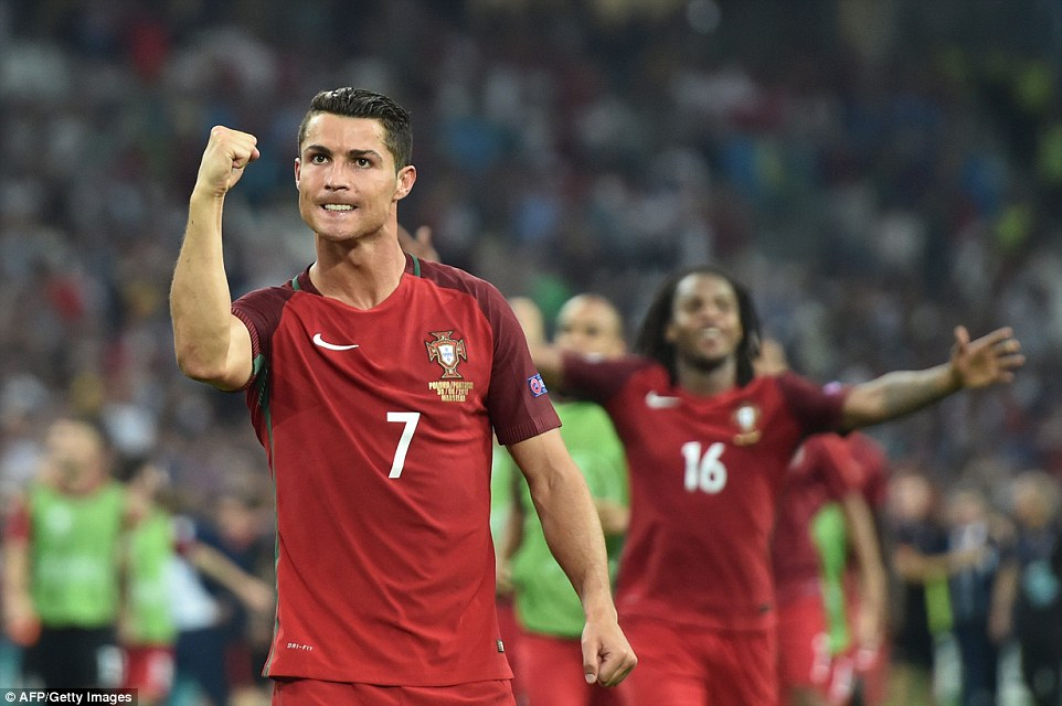 Ronaldo clenches his fist after playing his part in the narrow victory but he will be happy to not be centre stage if Portugal go all the way
