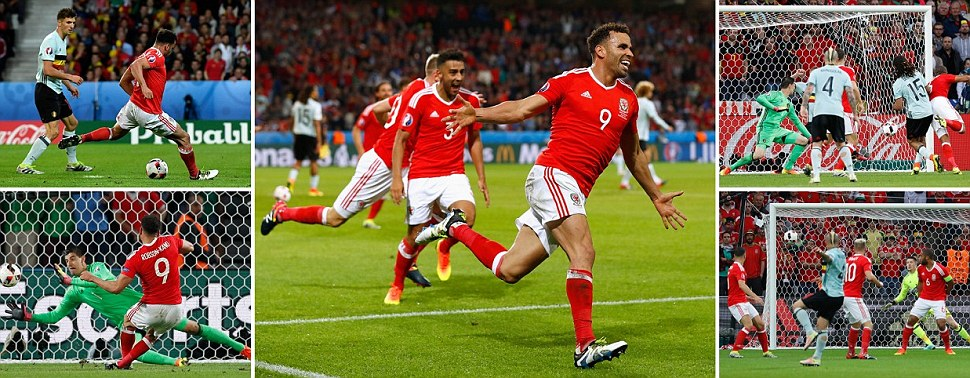 Robson-Kanu hasnt got a club but his stunner puts Wales ahead after Williams towering header negated Nainggolans beauty