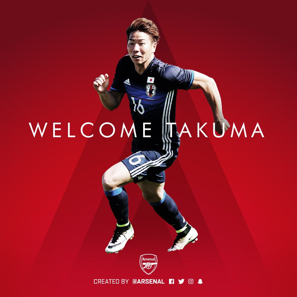 Arsenal have signed Japanese forward Takuma Asano from Sanfrecce Hiroshima for an undisclosed fee