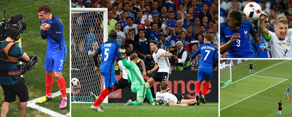Griez lightning France power past Germany as Golden Boot-elect buries a goal in each half to set up Paris showdown with Portugal
