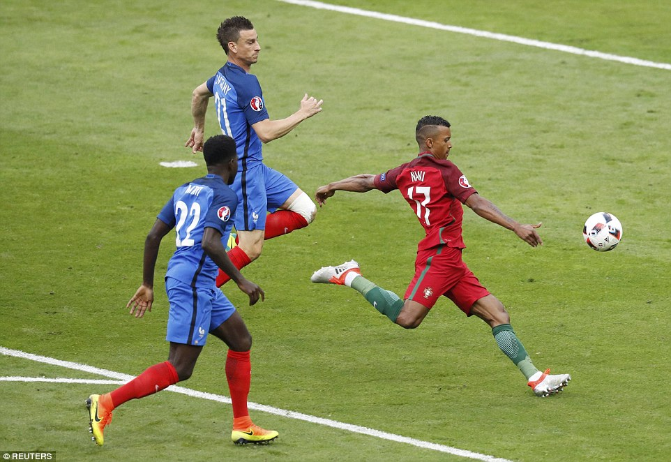 Portugal came after five minutes when Nani broke the French defensive line but could only fire over
