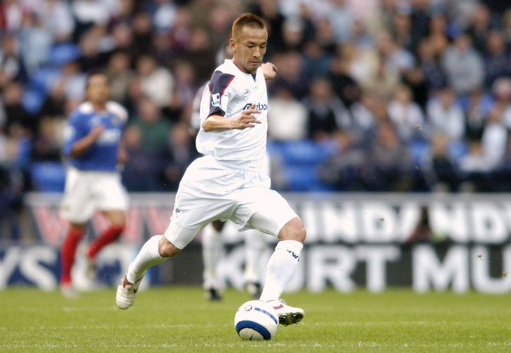 The Japanese David Beckham arrived at The Reebok in 2005 and played 32 times for the Whites