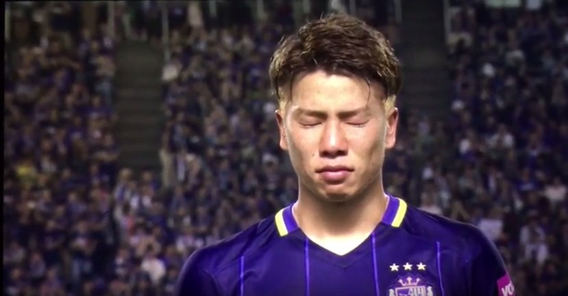 Asano in tears after playing his final game in the Japanese league today
