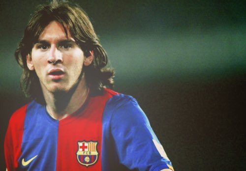 Messi - then and now