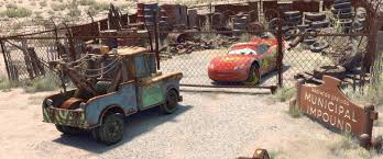 Cars movie Mater backwards