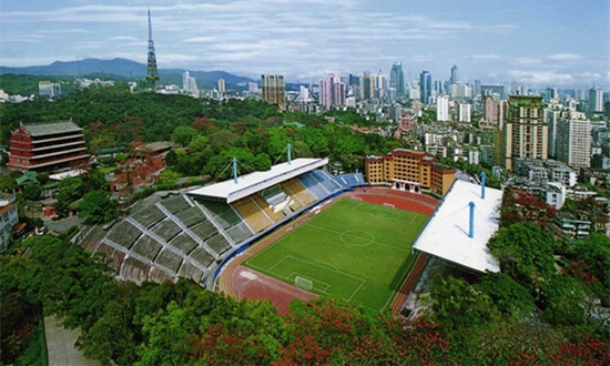 panoramic photo of Guangzhou RFs stadium
