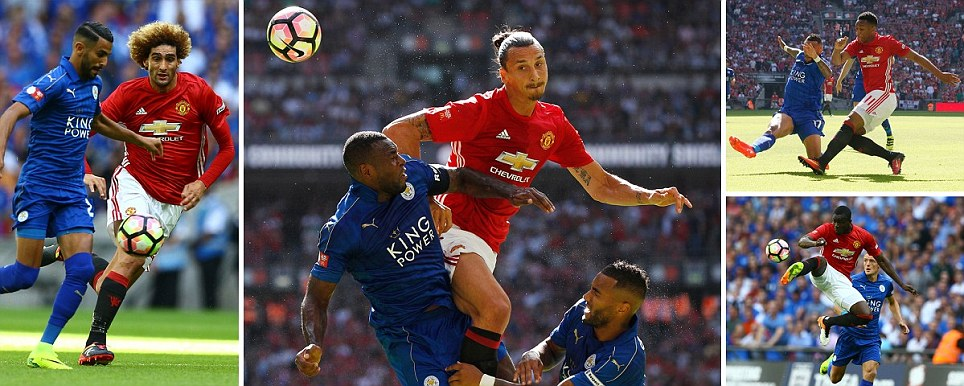 Manchester United vs Leicester City Mourinho leads Ibrahimovic and new-look side in Community Shield at Wembley