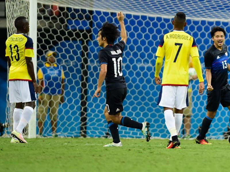nagajima goal agaisnt combia