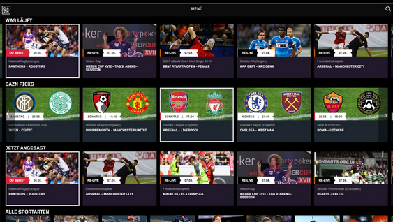 Das ist DAZN Alle Infos zum Netflix des Sports