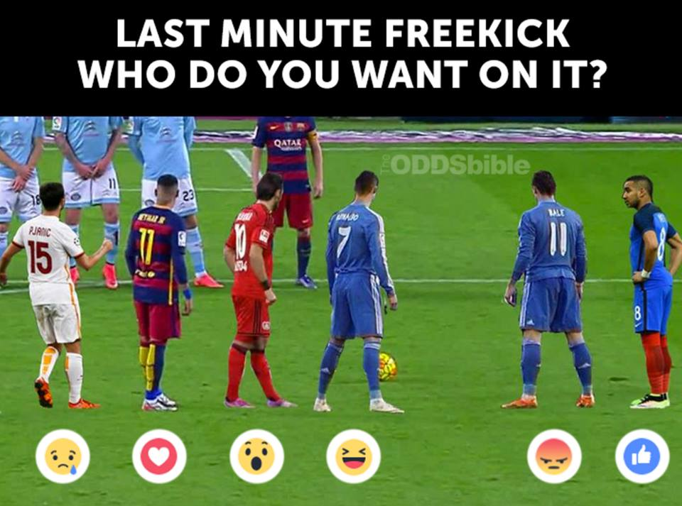 Which one would you pick last minute free kick