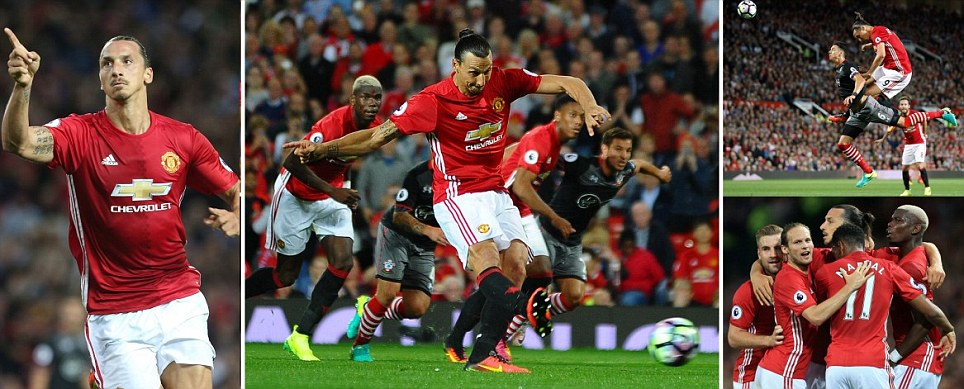 Zlatan steals the show with double to continue stunning start to Manchester United career as Pogba makes second debut in win