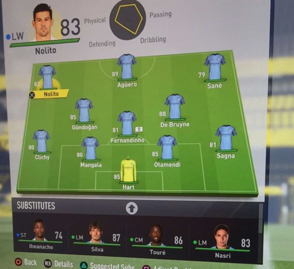 Manchester City en #FIFA17