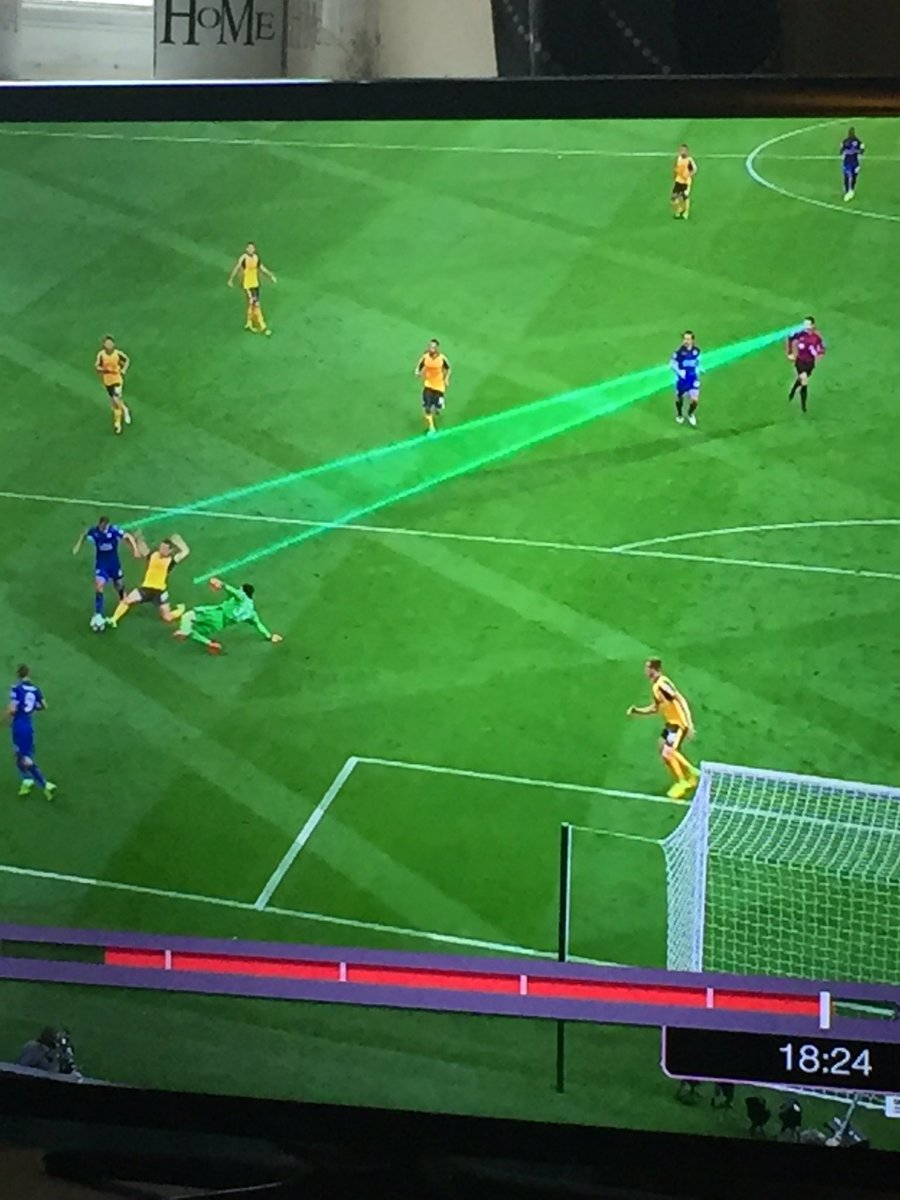 Clattenberg deploys his laser vision Okazaki unfortunately caught in the crossfire