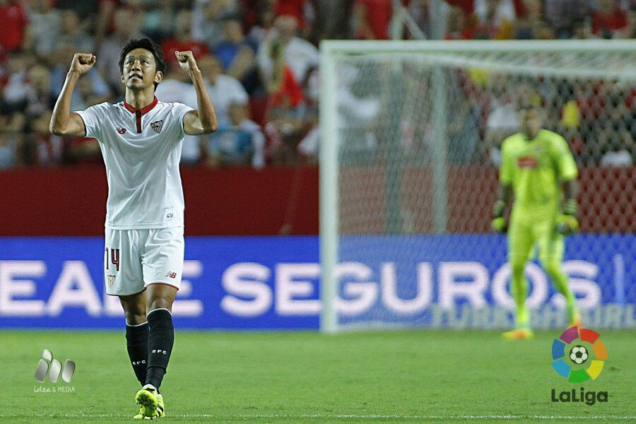 Kiyotake scored and assisted on his league debut for Sevilla