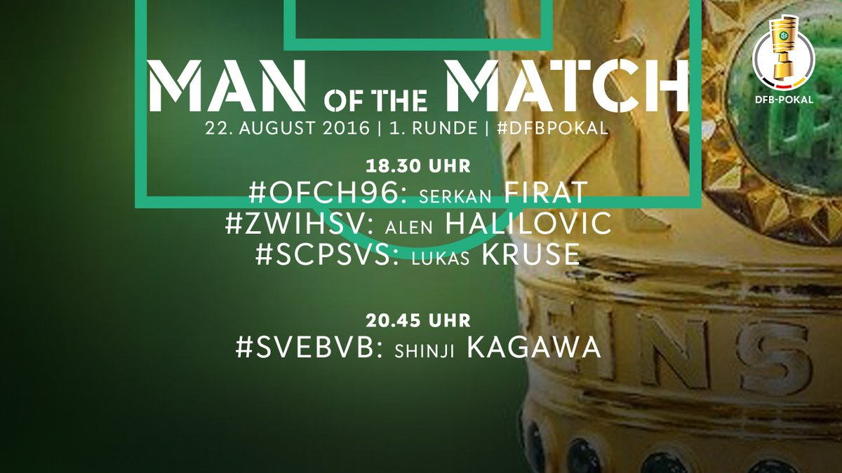 Man of the Match Das sind die heutigen Gewinner kagawa