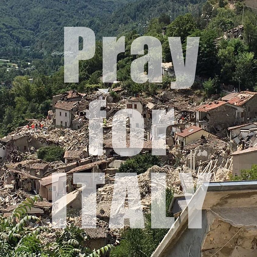prayforitaly#wearetheworld