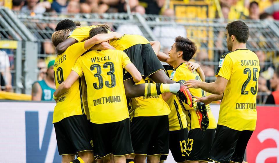 DOppelpack Auqɐɯǝyang Dortmund ist mit einem Sieg in die Saison 2016_17