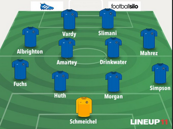 Okazaki deserves to start and will against Liverpool I think, but reckon this will be the team in future #LCFC