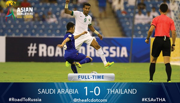 Saudi Arabia a narrow 1-0 win over a spirited Thailand