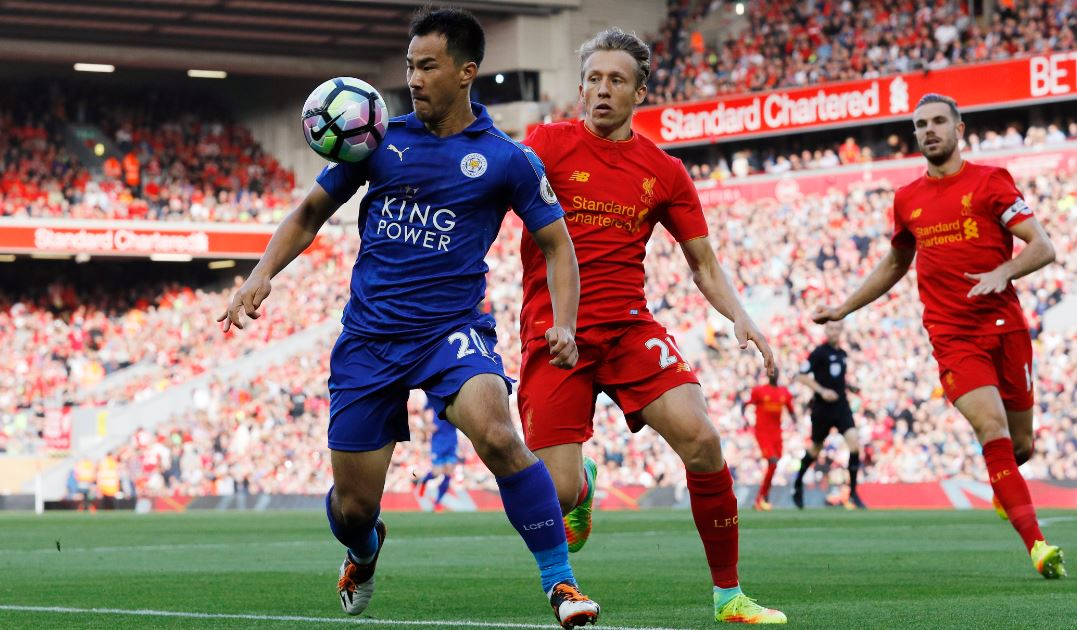 The second half is underway at Anfield, with Musa replacing Okazaki for Leicester
