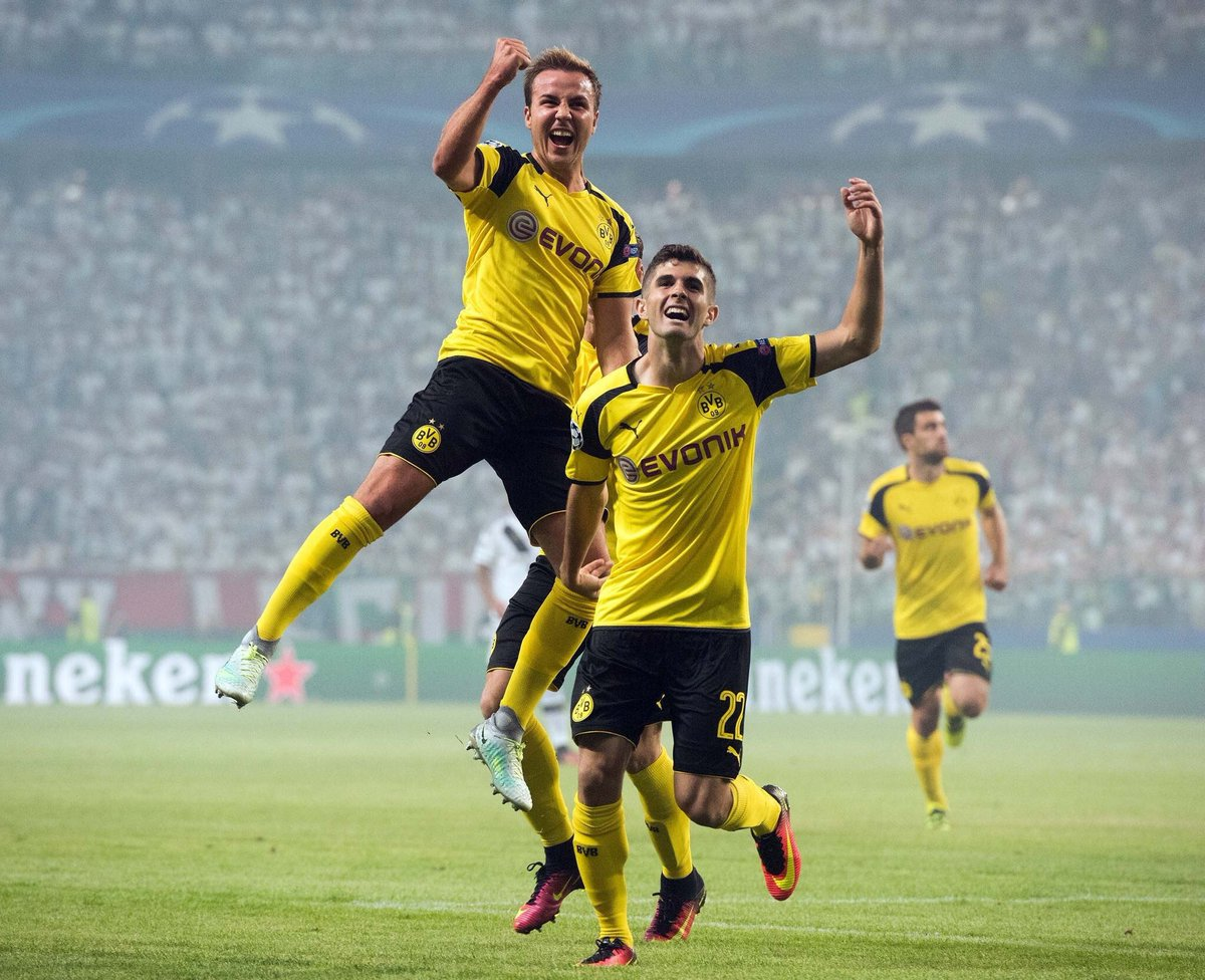 Picture Götze and Pulisic #bvblive